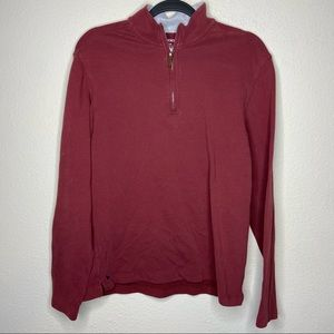 UNTUCKIT Maroon 1/4 Quarter Zip Pullover Medium